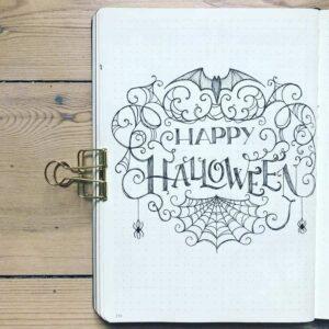 bullet journal halloween portada