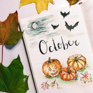bullet journal halloween calabaza