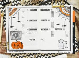 bullet journal halloween vista semanal