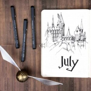 bullet journal harry potter julio