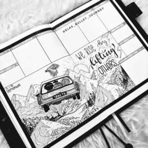 bullet journal harry potter semanal