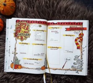 bullet journal harry potter gryffindor