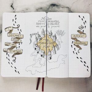 bullet journal harry potter mapa del merodeador