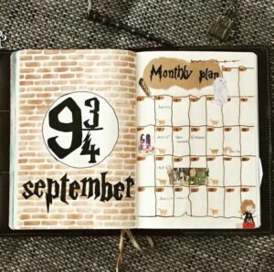 bullet journal harry potter anden 9 3_4