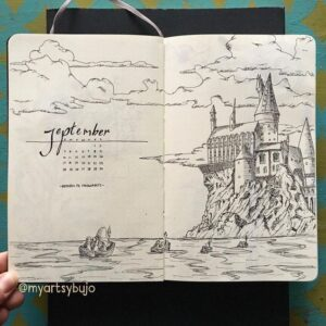 bullet journal harry potter octubre