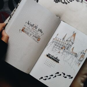 bullet journal harry potter noviembre