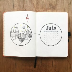 bullet journal harry potter portada