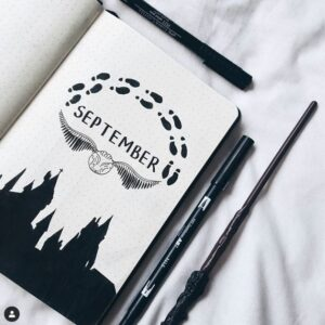 bullet journal harry potter septiembre