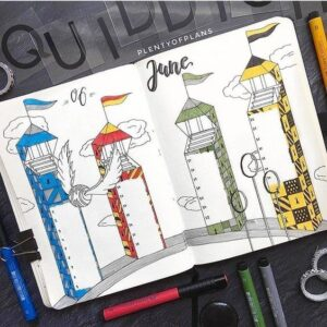 bullet journal harry potter quidditch
