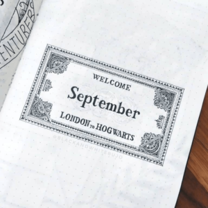 bullet journal harry potter ticket