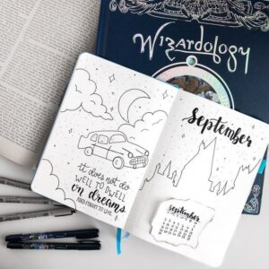 bullet journal harry potter portada septiembre