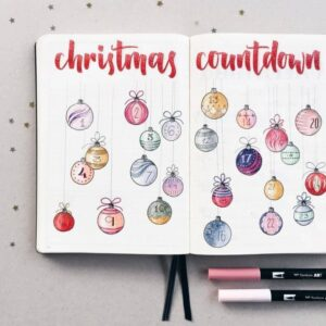 bullet journal navidad inspiración