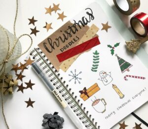 bullet journal navidad doodles