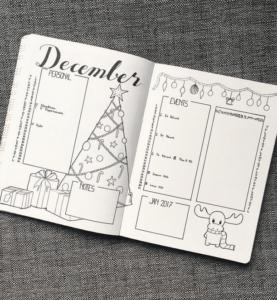 bullet journal navidad inspiración extra
