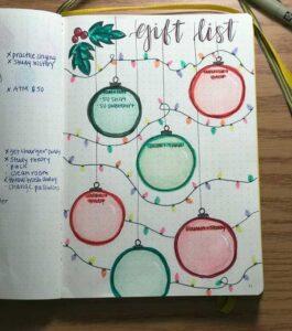 bullet journal navidad registro