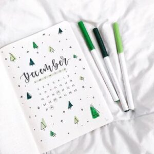bullet journal navidad portada