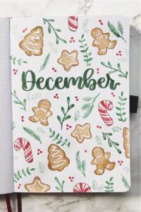 bullet journal navidad diciembre