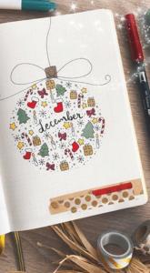 bullet journal navidad bola de navidad
