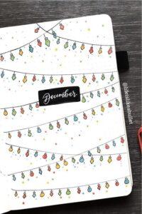 bullet journal navidad luces