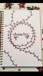 bullet journal navidad luces de navidad 2