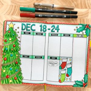 bullet journal navidad semanal 2
