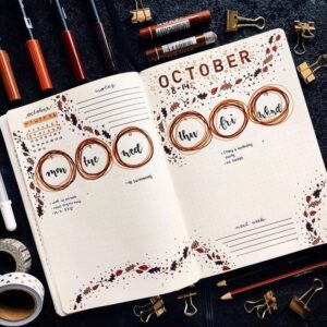 bullet journal otoño vista semanal 2