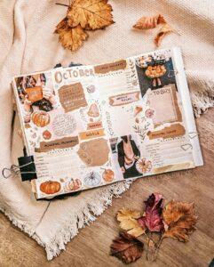 bullet journal otoño inspiración