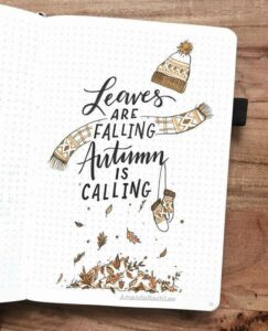 bullet journal otoño frase