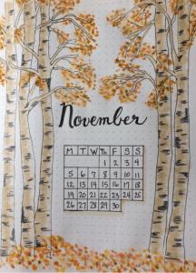 bullet journal otoño noviembre
