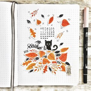 bullet journal otoño portada
