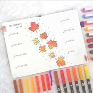 bullet journal otoño semanal