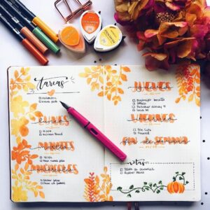 bullet journal otoño semana