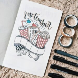 portada bullet journal películas