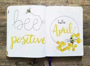 bullet journal primavera abeja
