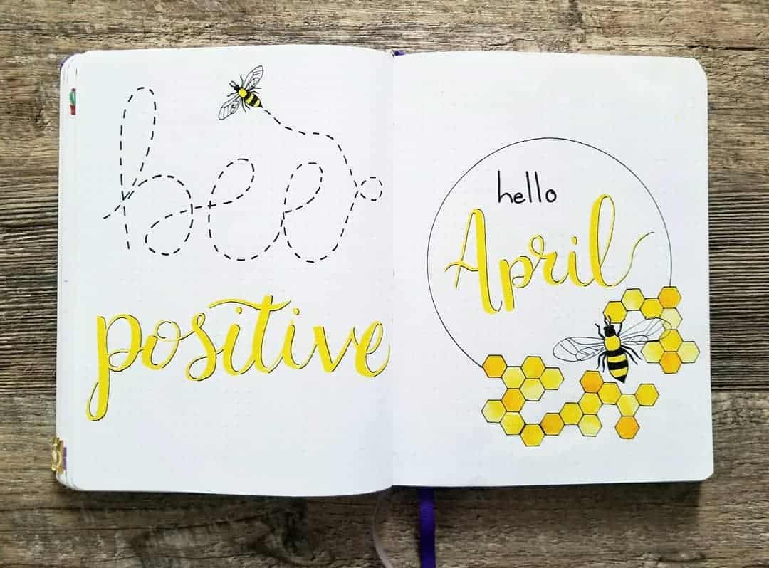 bullet journal primavera abeja
