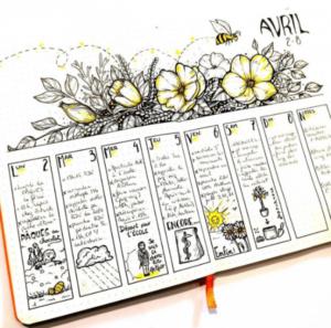 bullet journal primavera semana