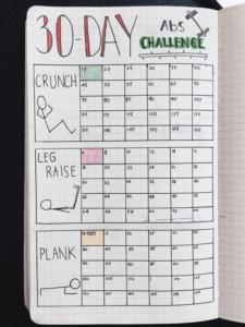 registro de ejercicio