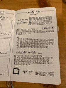 registro de peliculas bullet journal