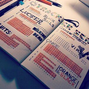 series track bullet journal
