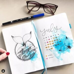 bullet journal verano julio