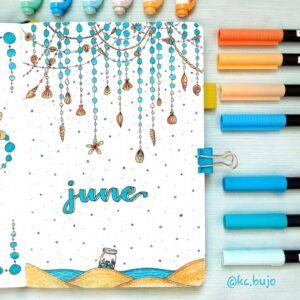 bullet journal verano junio