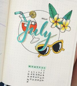 bullet journal verano