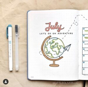 bullet journal viajes julio