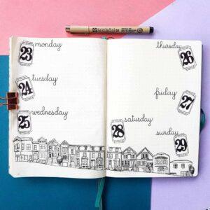 bullet journal viajes semana 1