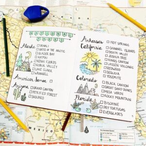 bullet journal viajes lista de lugares