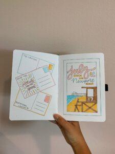 bullet journal viajes verano