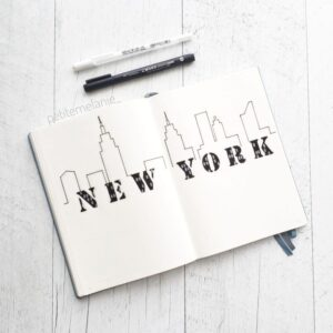 bullet journal viajes nueva york