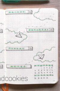 bullet journal viajes semanal