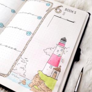bullet journal viajes registro semanal